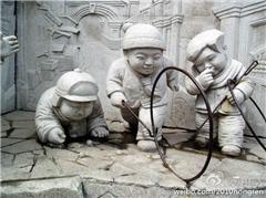 孩子 记忆中的小男孩与滚铁环