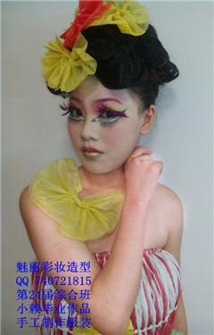 素描艺妓头发的画法步骤图