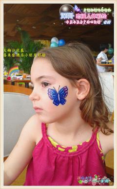 手绘 大梅沙的小朋友脸部彩绘
