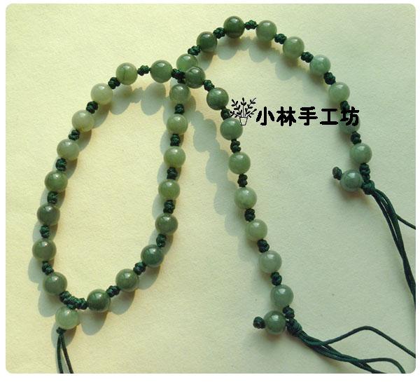 小林手工坊a货玉珠子编织中国结项链绳玉佩