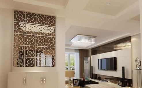 . <img>镂空雕花隔断现代简约风格的客厅装修怎么将客厅和
