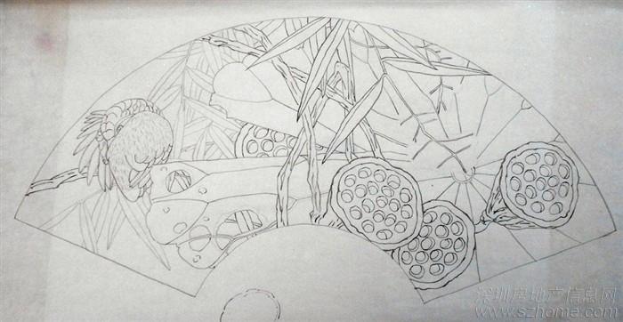 古筝手绘图片素材