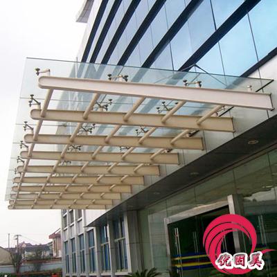 > 优固美--深圳雨棚,钢结构雨棚,玻璃雨棚效果图