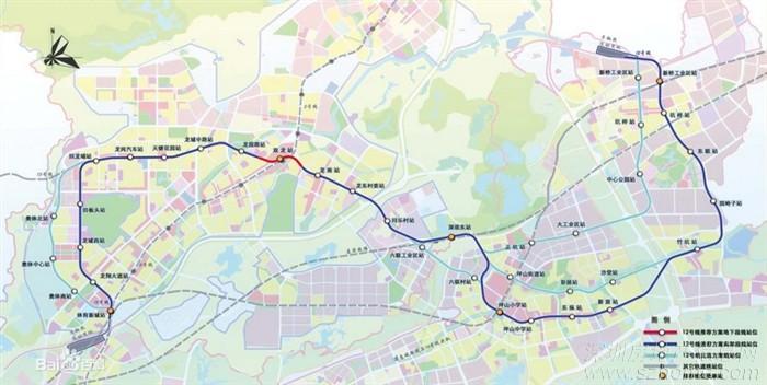 深圳地铁12号;; 深圳地铁路线图