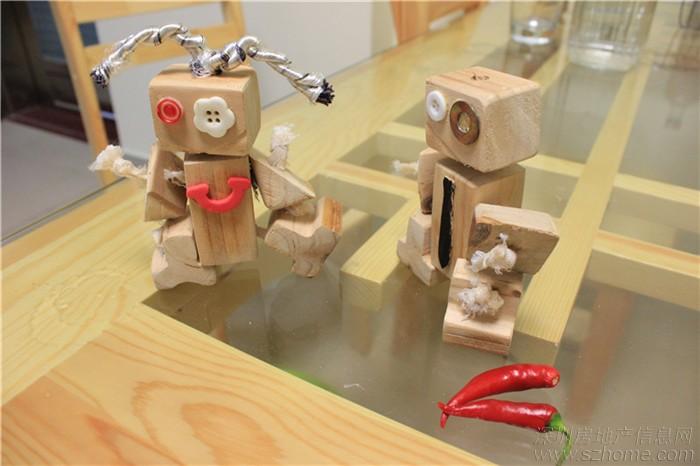 木头机器人 幼儿园手工大赛作品 深圳房地产信息网论坛 高清图片