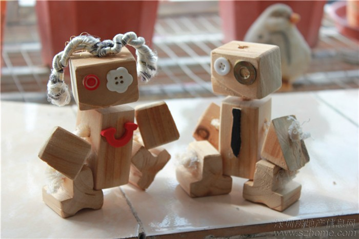 木头机器人____幼儿园手工大赛作品