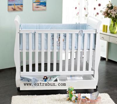 婴儿床:采用a级新西兰进口松木制造