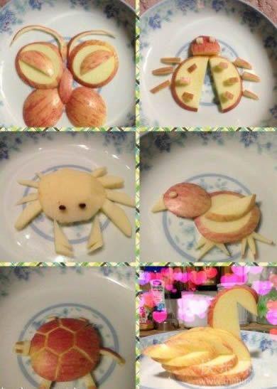 用苹果做的小动物