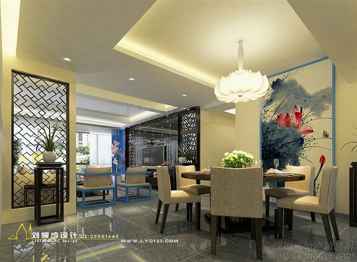 《品蓝》--广东江门180平米新中式设计