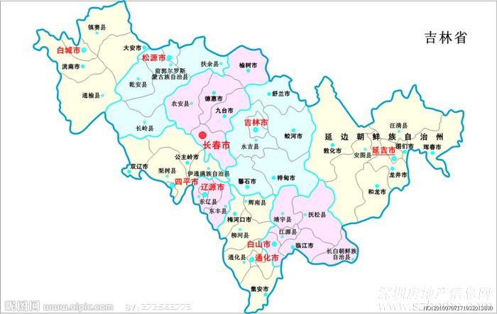 最后再上张吉林省地图