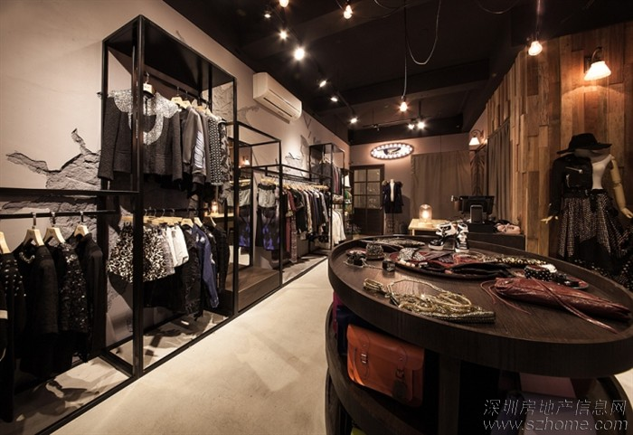 简约*时尚*高品质*的服装店设计图片
