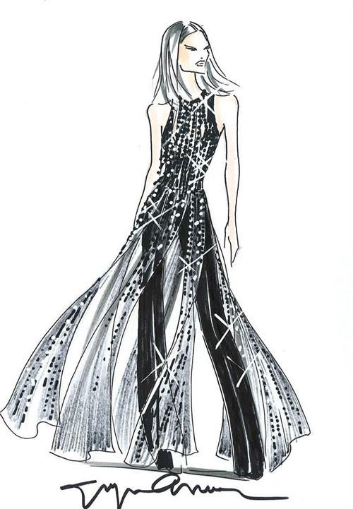 意大利品牌服装设计手稿