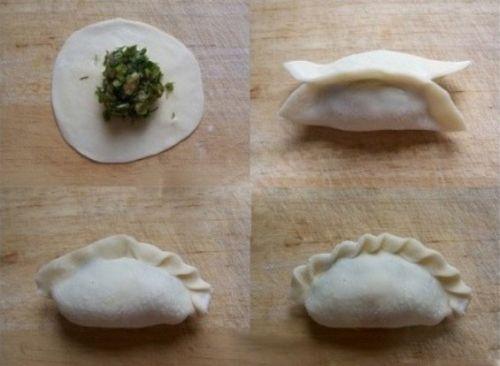 葵花饺子的包法图解