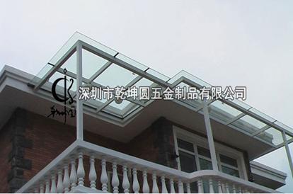 钢结构玻璃雨棚结构图