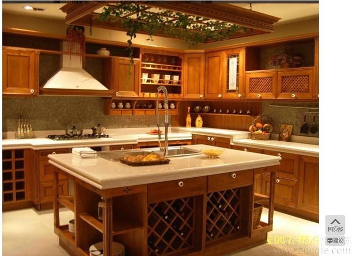 由于实木类橱柜讲究工艺及工艺件的搭配