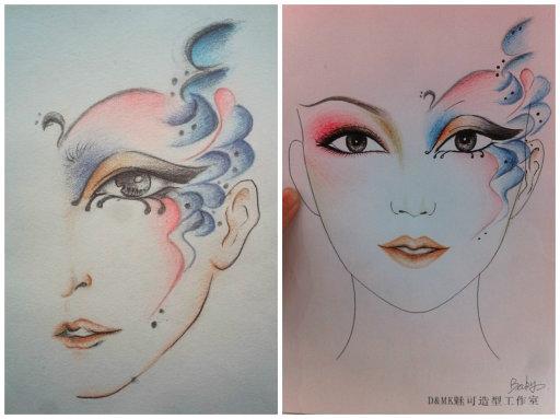 彩妆手绘设计图