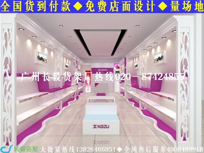 广州长毅皮具包包展柜设计效果图 鞋店装修效果图