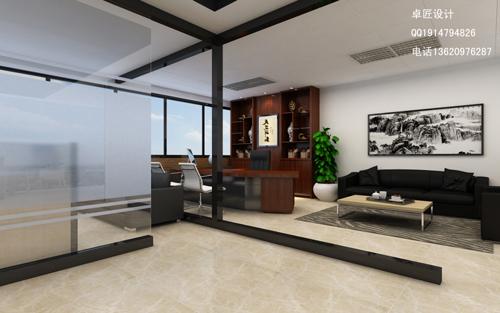 > 高档写字楼办公室装修设计-宝安汇潮大厦