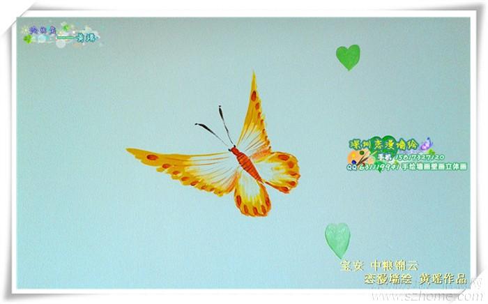 5月末最新现代简洁风格手绘墙画壁画墙绘案例 电视背景墙 儿童房 卧