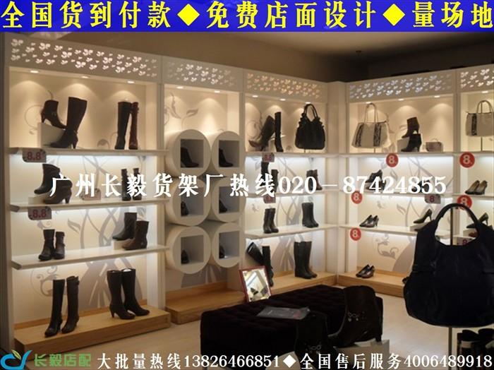 我厂专业订制烤漆鞋店展示柜,鞋店货架,女鞋店装修图,童鞋店装修效果