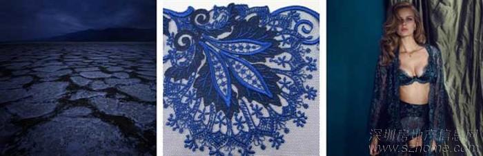 黑色主题,错综复杂的花边设计和结构刺绣打造出来