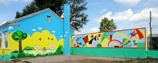幼儿园墙绘整体外墙.