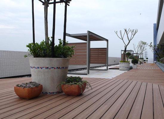 防腐木地板 打造精致园艺式阳台