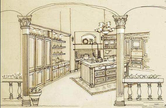 创意橱柜设计素描
