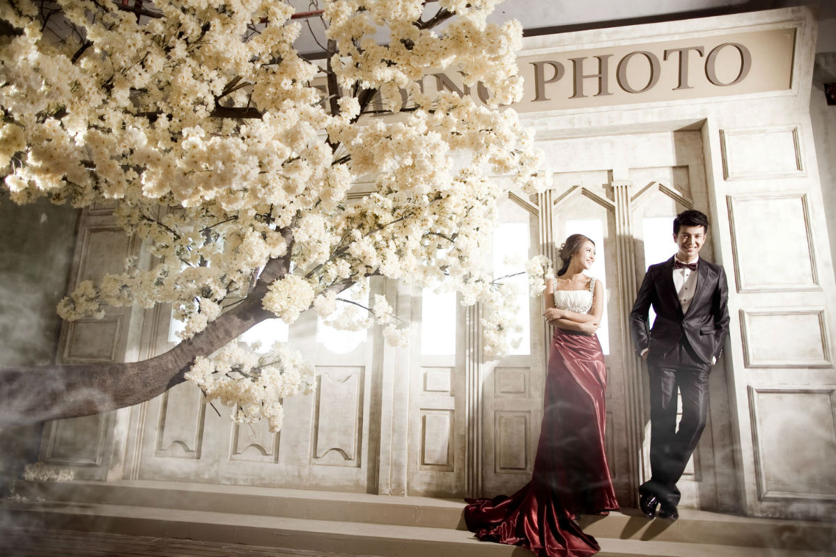 巴黎婚纱摄影拍摄唯美