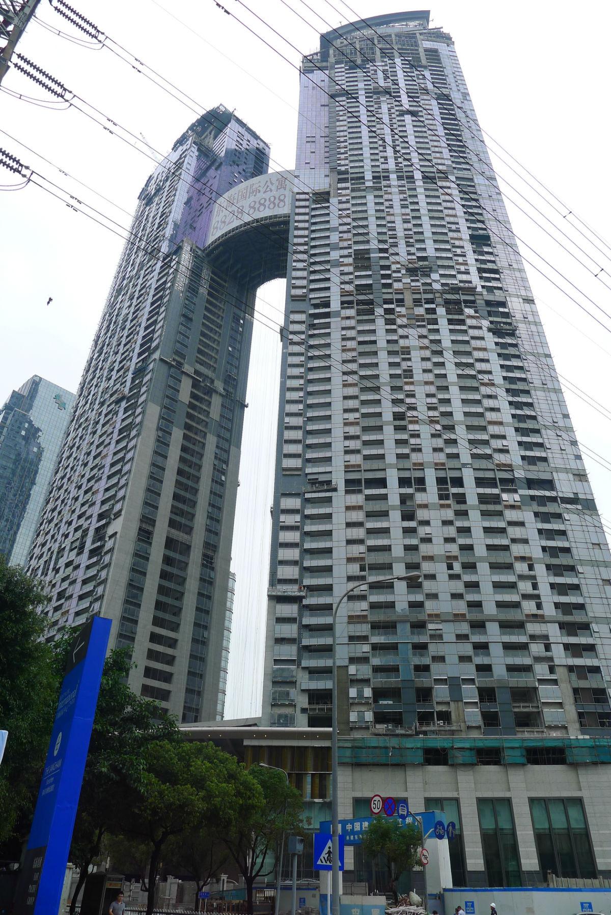 亚洲第一高公寓楼,顶层42万/平_东海国际公寓 - 家在