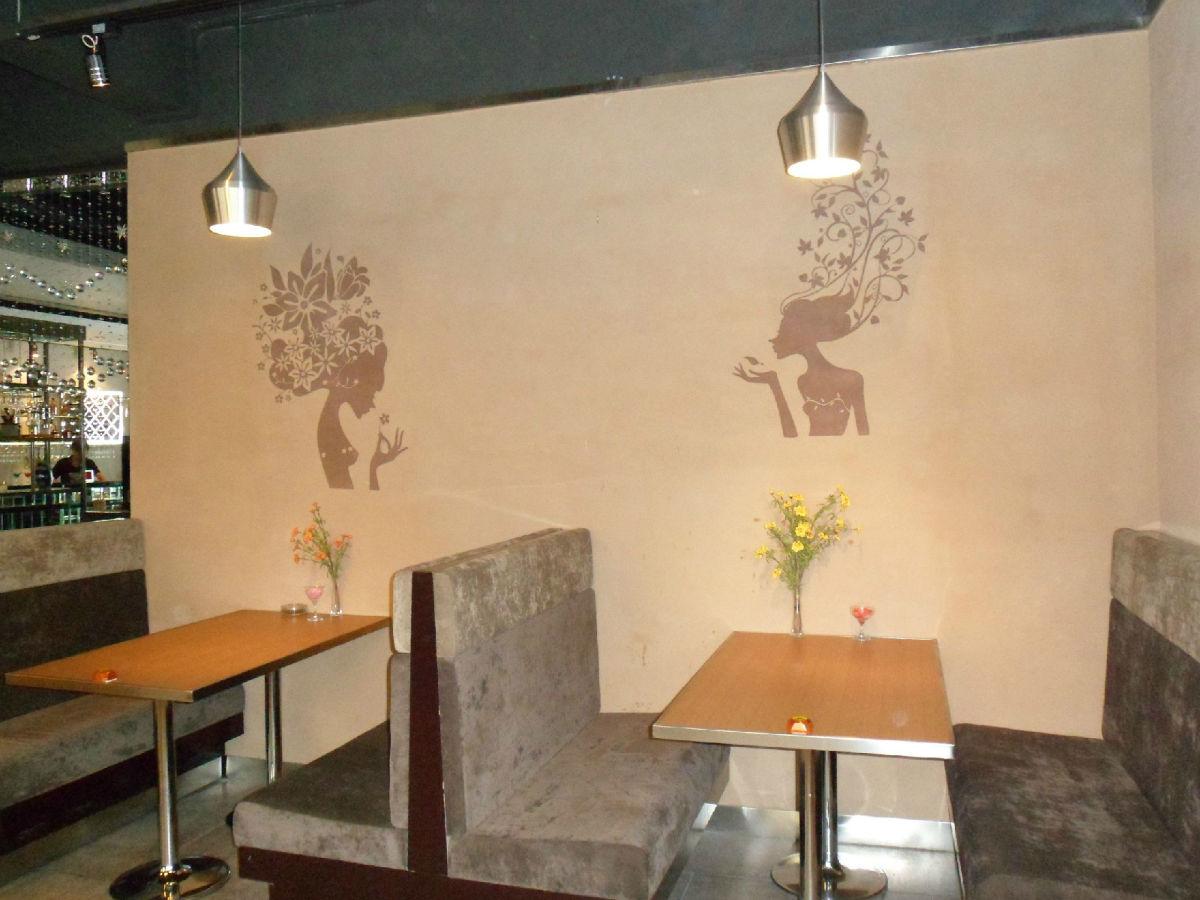 硅藻泥,茶餐厅效果