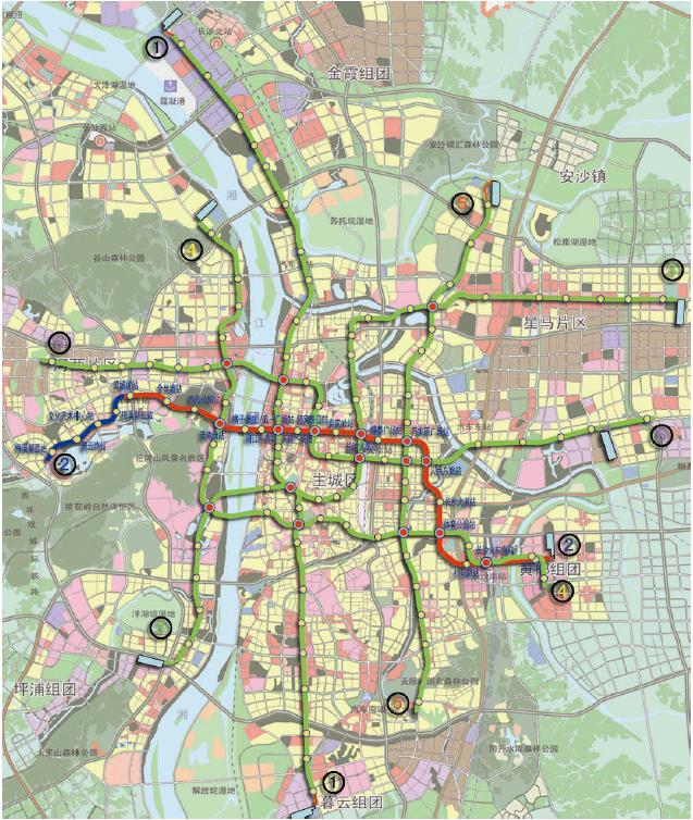 围观长沙地铁1 6号线规划,瞧瞧在北辰三角洲出去玩,该怎么搭乘地铁