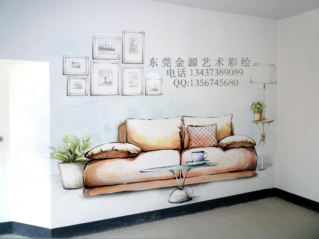 手绘样板房墙画彩绘清水房壁画涂鸦