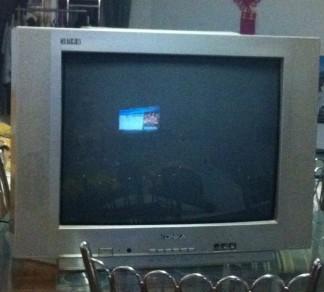闲置的康佳21寸电视机 好孩子儿童自行车