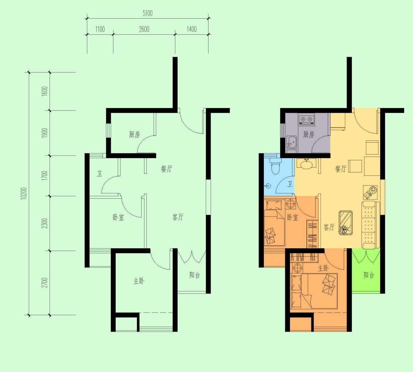 2017青岛市北公租房户型图