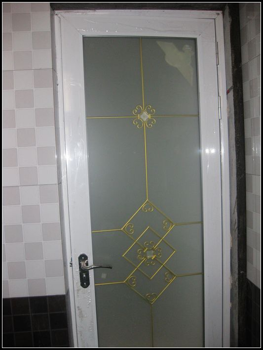 洗手间的门,对花式没讲究,随便选的花样 高清图片