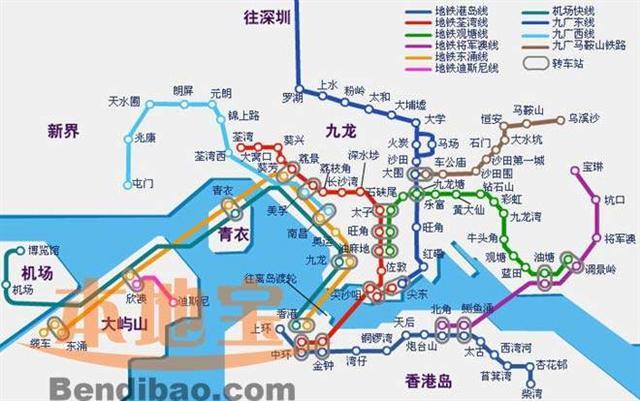 郑万高铁最新线路图 2016香港地铁线路图