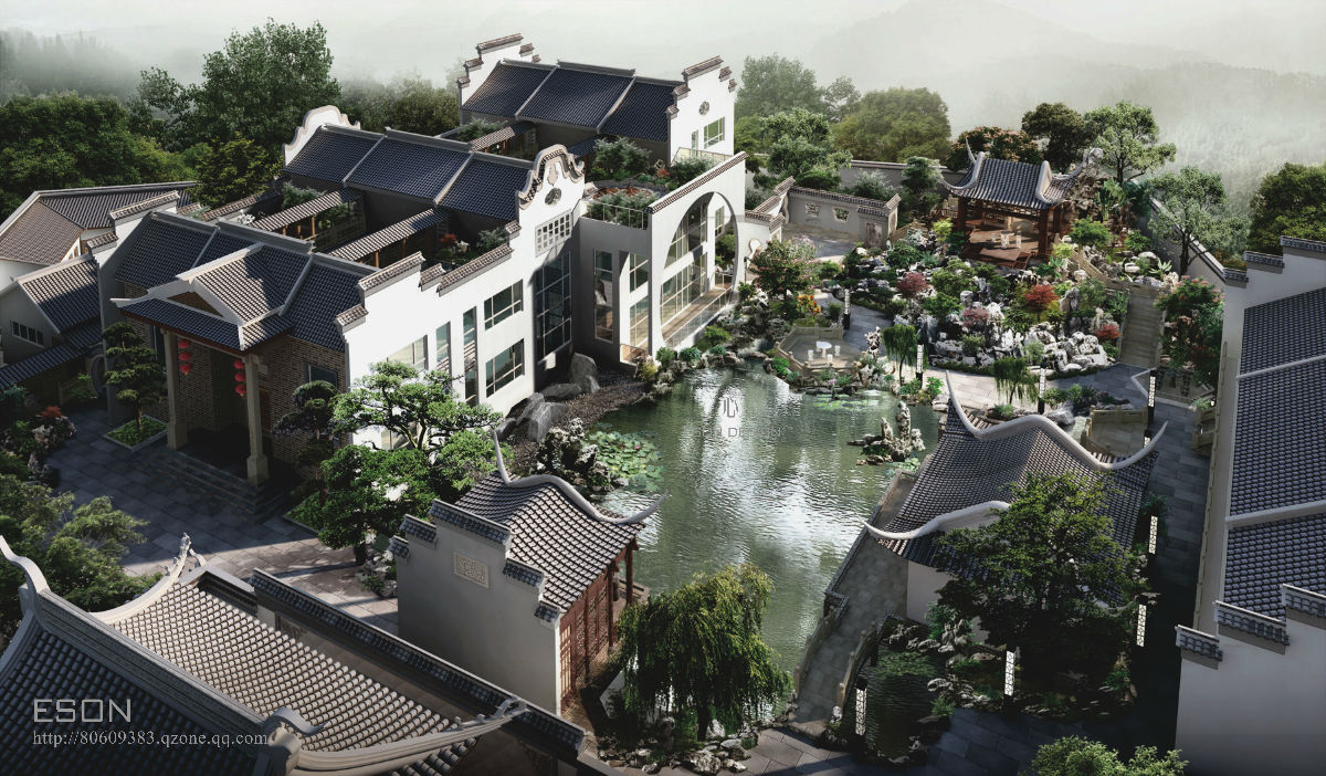 eson——记园林住宅之中式意境图片