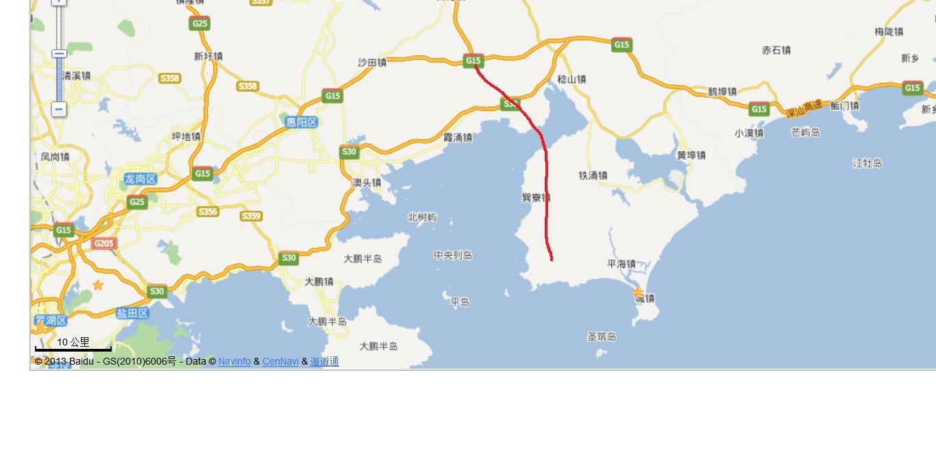 巽寮周边小岛地图