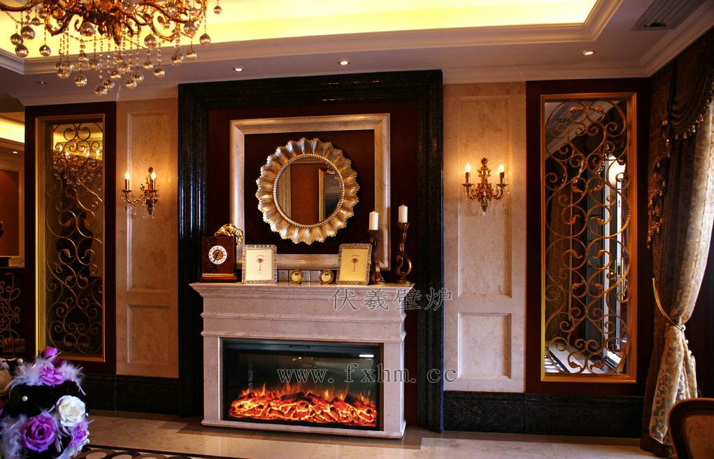 带壁炉的美式客厅 美式客厅 壁炉位置 美式壁炉图片