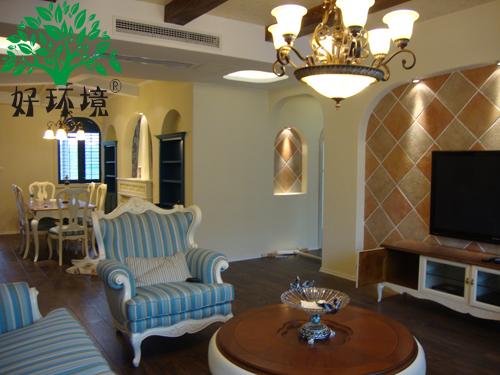 欧式风格的别墅装修,使用了好环境硅藻泥内墙装饰