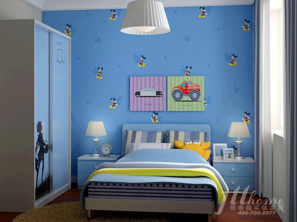 新中式蓝色花纹墙纸贴图