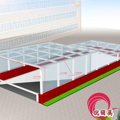优固美--深圳雨棚,钢结构雨棚
