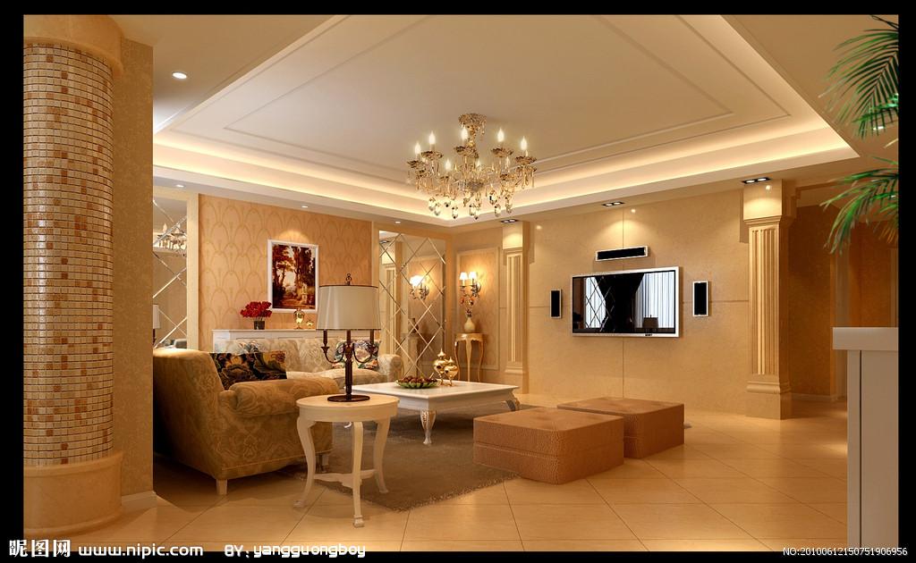 客厅摄影图 室内装修设计效果图 专业水电安装 水电维修