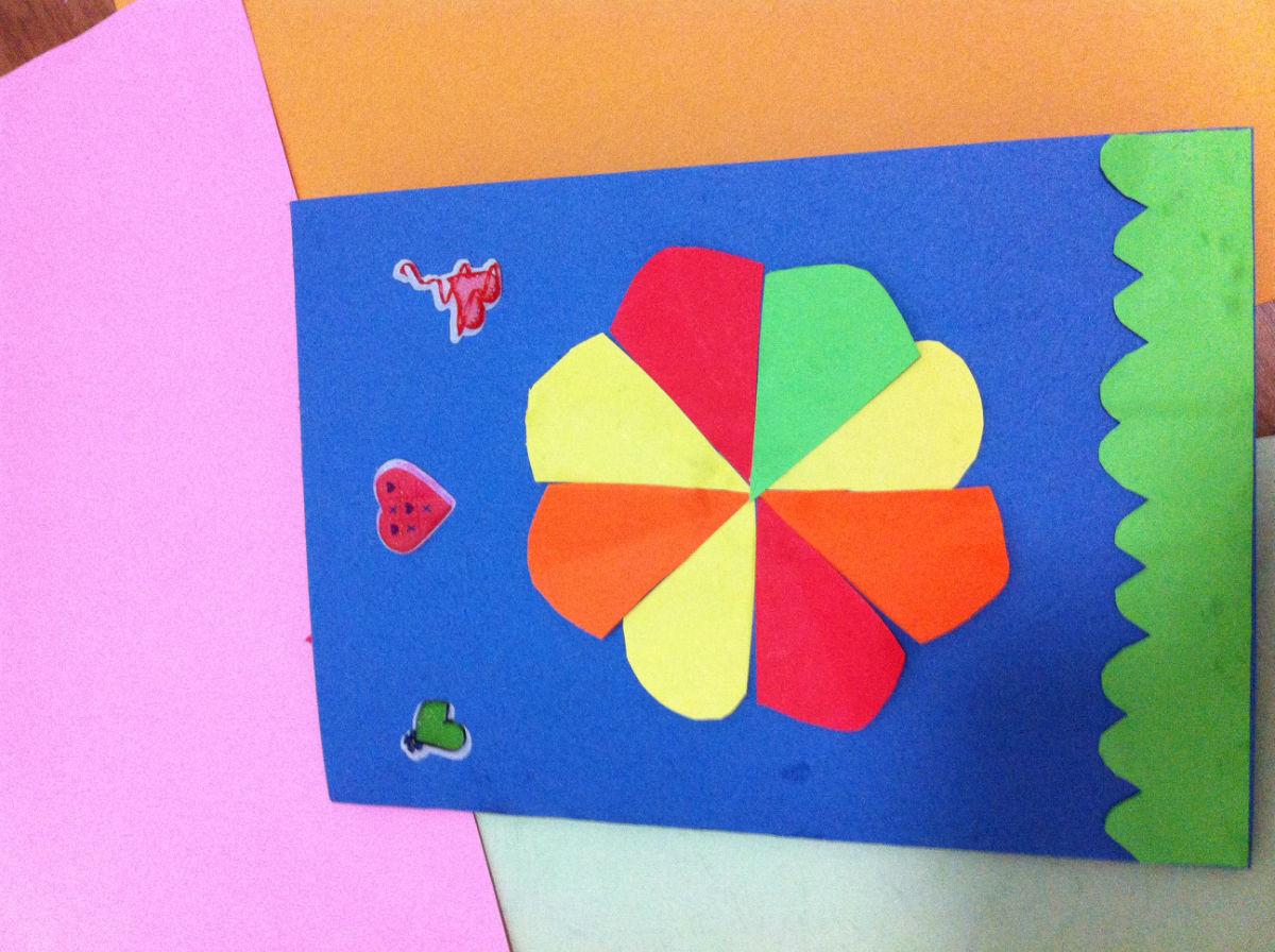 我和宝宝自己动手制作贺卡给幼儿园老师