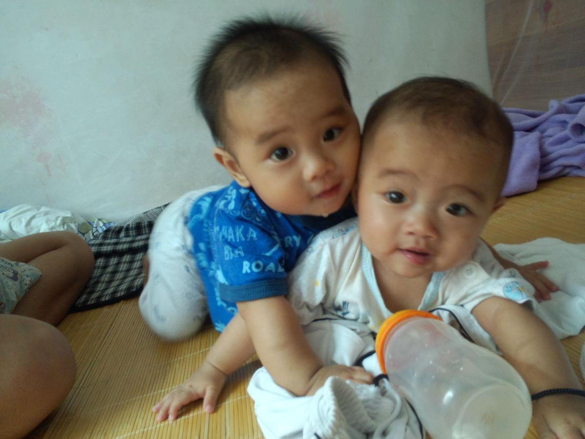 龙凤宝宝八个月了