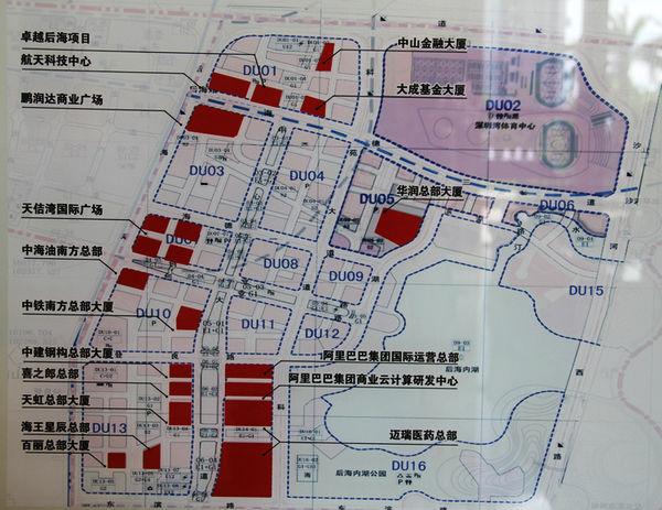 项目进度 查看 抢滩 实地 南山 入市 下半年 分布图/南中国顶级总部基地分布图...