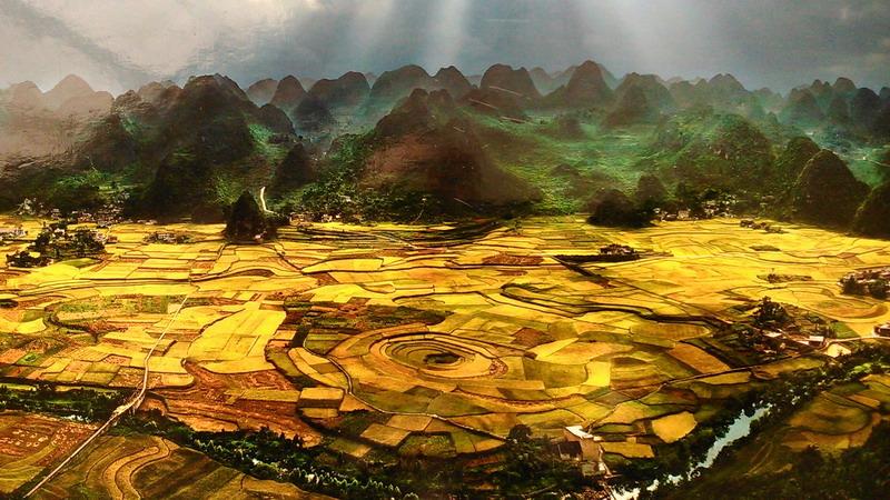 黔西南最著名的景区——万峰林最美景观——金秋稻田风光无限!