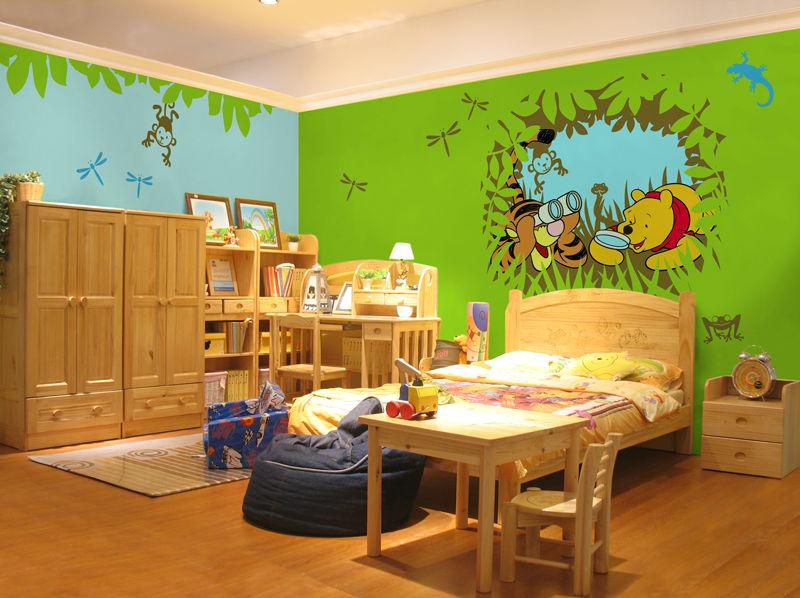 儿童房手绘墙画壁画 迪士尼卡通
