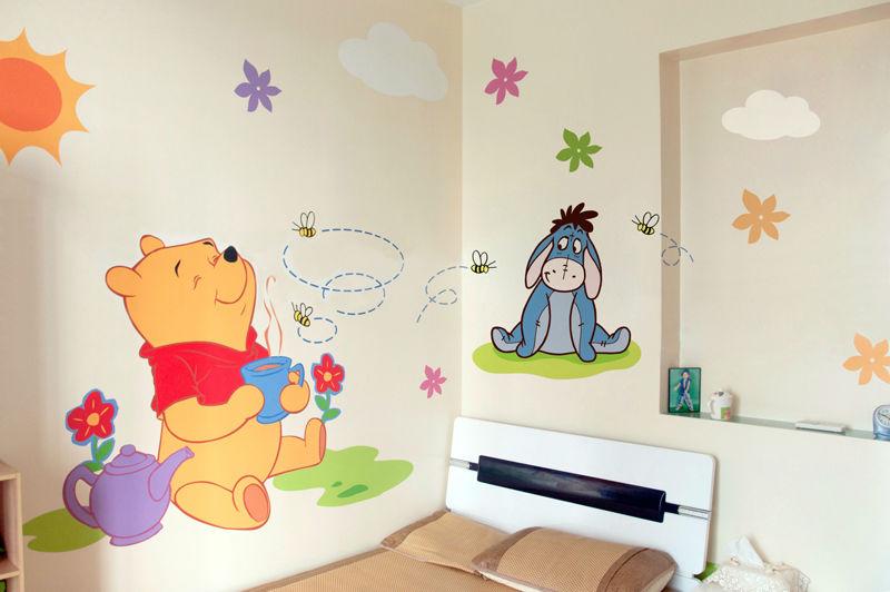 儿童房手绘墙画壁画 迪士尼卡通动漫专版